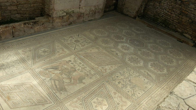 Ancient mosaic in Pula
