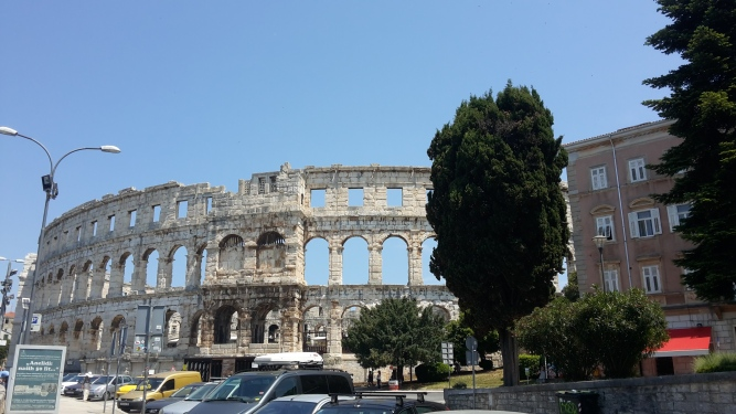 The amphitheatre in Pula, the best preserved of all Roman amphitheatres