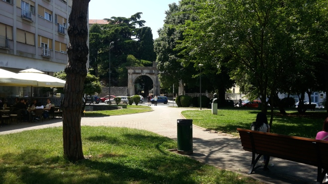 One of the Roman gates of Pula