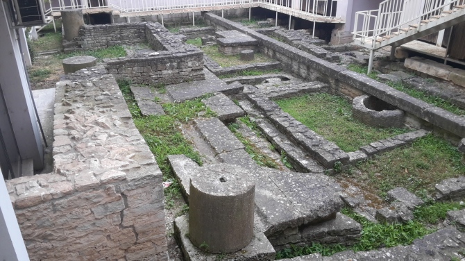 Archeological site near Forum in Pula